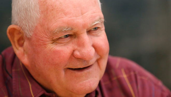 U.S. Secretary of Agriculture Sonny Perdue talks with the Des Moines Register Friday, Nov. 10, 2017, during his visit to central Iowa.