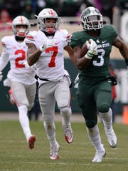 MSU sophomore running back LJ Scott is 65 rushing yards from 1,000 on the season. MSU will likely need him to get the 65 and more to win at Penn State.