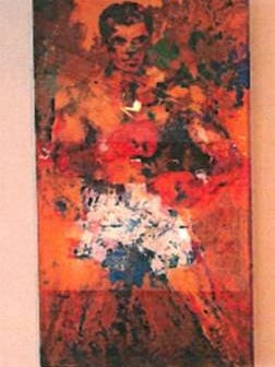 Louisville Metro Police are searching for the man believed to have stolen a LeRoy Neiman painting from the Muhammad Ali Center.