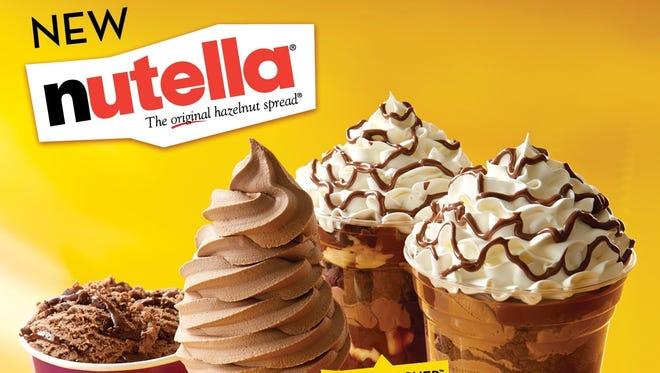 Carvel introduces Nutella ice cream.