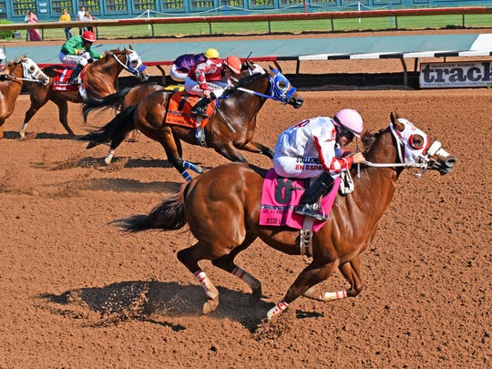 Trainer James Pagett II topped the incredible day he had when he won the $200,000 All American Juvenile with Jesse Lane earlier on the program before 24,460 fans.
