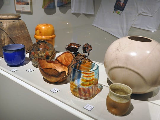 A wide variety of artwork is on display in the Spring