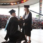Union County residents Ricardo Ciprian and Kimberly Smela got engaged at Kean University's graduate commencement ceremony on Tuesday.