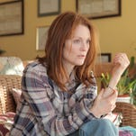 "Julianne Moore in a scene from ""Still Alice."" Moore was nominated for an Oscar for best actress for her role in the film. The Academy Awards are Sunday, Feb. 22."