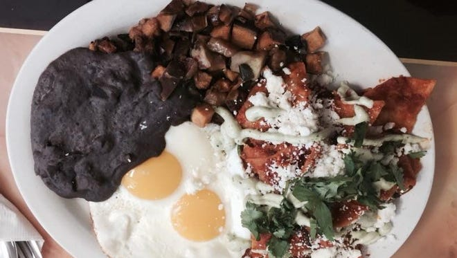 Chilaquiles at the new Abeja's House Cafe.