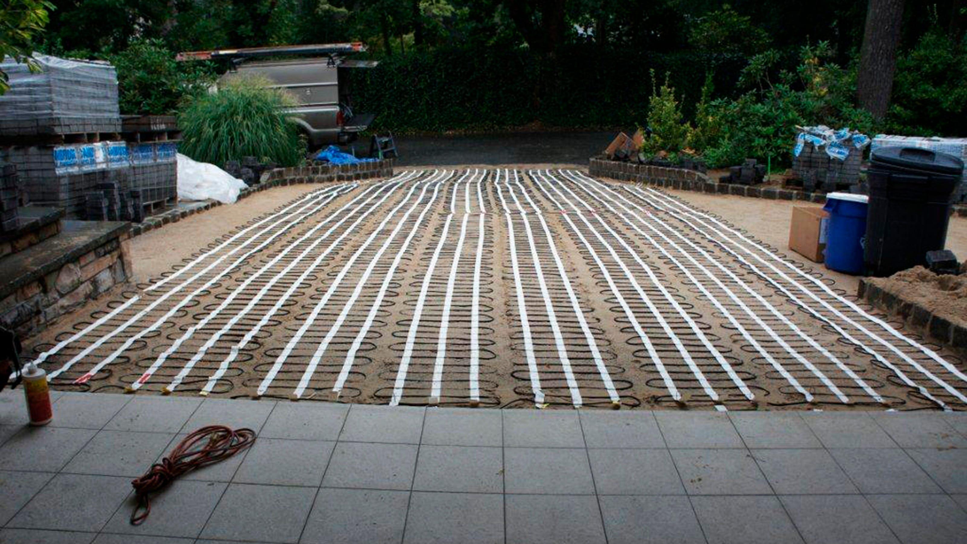 Solar Heated Driveway