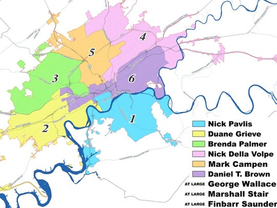 Knoxville City Council Districts.