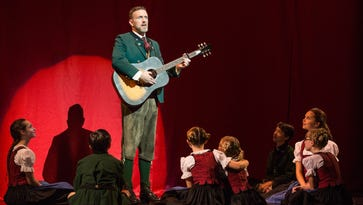"""Ben Davis sings """"Edelweiss"""" as Captain Georg von Trapp with the von Trapp Children in the touring production of """"The Sound of Music."""""""