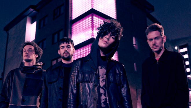 "Matt Healy, third from left, vocalist and guitarist for the 1975, says:  ""We were 13 when we started this band. ...  No matter how many times we were being told no, we just knew in our hearts that this was it."""