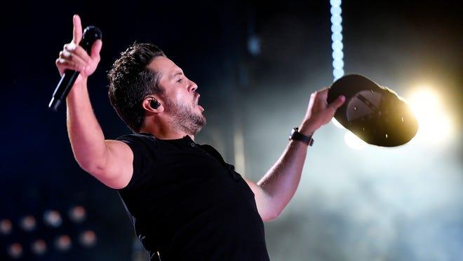 Luke Bryan performs at the 2018 CMA Music Fest Sunday, June 10, 2018, at Nissan Stadium in Nashville, Tenn.