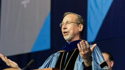 Xavier University President, Father Mike Graham, speaks