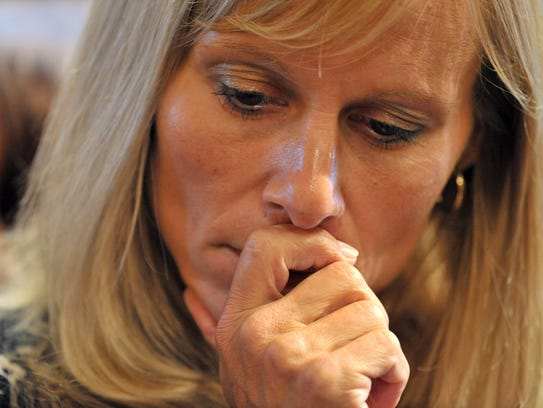 Cindy Gamrat ponders her fate before the vote to expel
