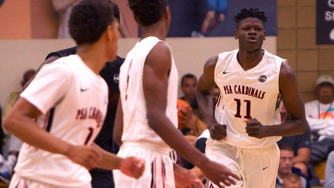 Mohamed Bamba (11) is considered one of the top five high school basketball players in the country,