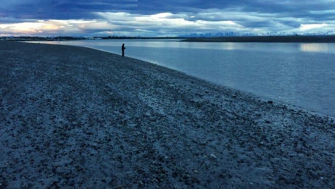A beach on Alaska's Kenai Peninsula where players for the Mat-Su Miners enjoyed a bonfire late in their Alaska Baseball League road trip.