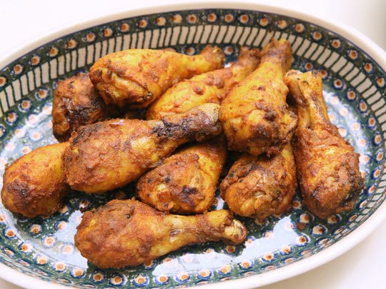 Turmeric and Honey-Glazed Drumsticks are sweet and spicy.