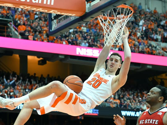 Syracuse forward Tyler Lydon helped the Orange reach