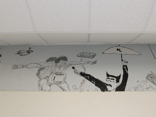 This mural was recently discovered while replacing the air conditioning system on the third floor of Byrd High.