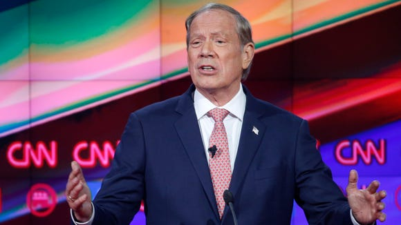 George Pataki speaks during the CNN Republican presidential