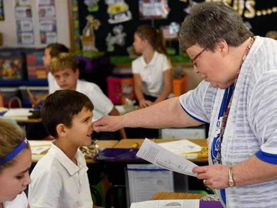 Jan McEntee, aka Miss Mac, teaches third graders at