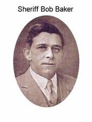 Sheriff Bob Baker, ca 1920.