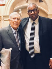 Thursday's fund-raising banquet for Team Focus reunited Fred Martinelli with Stan Jefferson, the former Mansfield coach and administrator who was Martinelli's receivers coach at Ashland University.