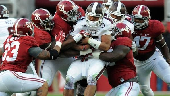 The Alabama defense controlled Heisman Trophy candidate Dak Prescott in beating No. 1 Mississippi State