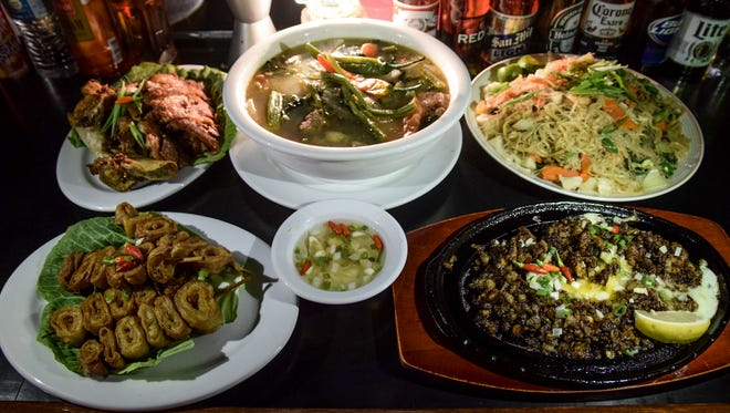 Popular Filipino dishes such as crispy pata, sisig, pancit, isoa, and sinigang are available at V-Keys Lounge & Restaurant.