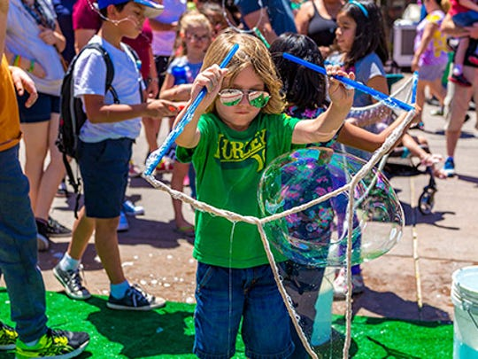 Young scientists can make their own bubbles at Glendale's