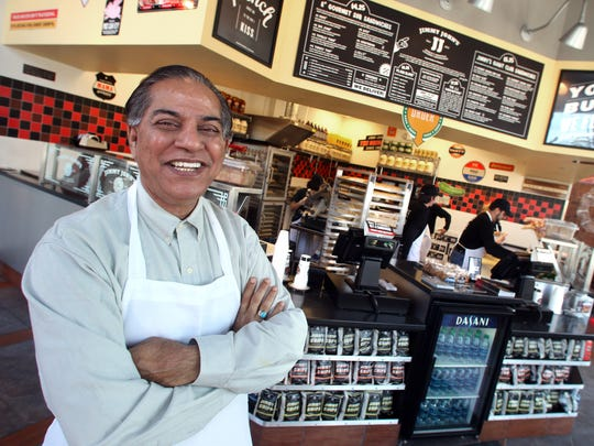 S.Ahmed Merchant owns Jimmy John's franchises in the Des Moines metro. The latest opened in West Des Moines on Tuesday.