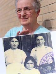 Sandra Mooradian, 73, of Dearborn with a photograph of her mother Olive Oghig Mooradian, middle, who just passed away this year at 101.
