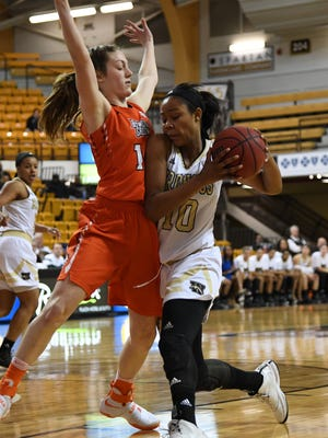 Waverly graduate Breanna Mobley picked up her 18th career double-double in a loss to Central Michigan Wednesday night.