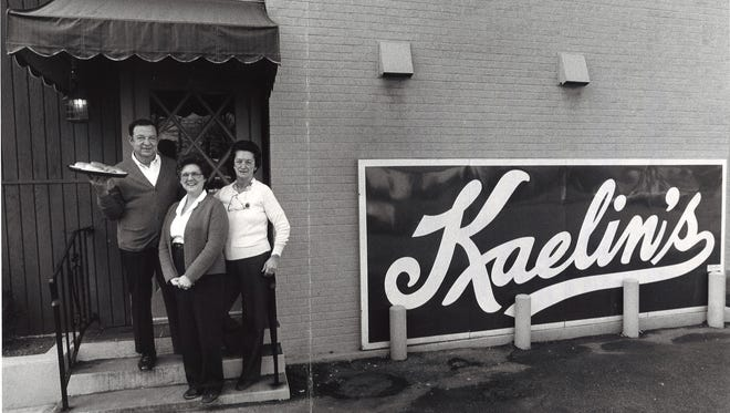 This 1984 archive photo shows Herb Raque, Irma Raque and Margie McGrath in front of Kaelin's Restaurant at 1801 Newburg Road. Irma and her sister Margie operated the restaurant after their parents, Carl and Margaret Kaelin, passed.