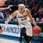 Aerial Powers recently became the fastest player in MSU women's basketball history to reach 1,000 career points and ranks second in the Big Ten in scoring and rebounding this season.