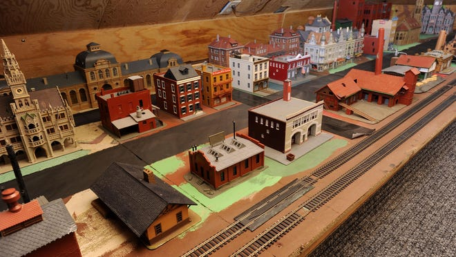 The Ogdies have a train collection on their renovated third floor.