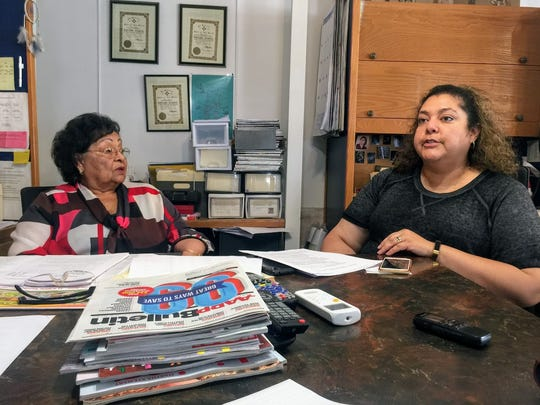 Stella Herrera and Angelica Herrera of Herrera's Bail Bonds in Alamogordo discuss their concerns over the news rules in the constitution regarding how bail is issued in their office.