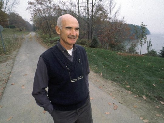Paul Preseault, formerly of Killarney Drive in Burlington, fought  Burlington for more than 20 years over the bike path and related issues. Preseault, who died in 2010, was photographed in Oct. 1989 on the path near his home.