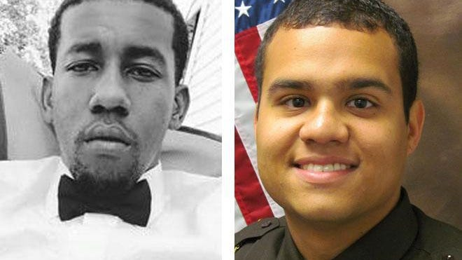 Christopher Davis (left) was shot and killed Feb. 24 by Walworth County Sheriff's Deputy Juan Ortiz (right) during what authorities have called a drug investigation.