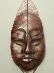 Four-eyed Mask by Carla Henry is a Gold Key winner in the Scholastic Art Awards.