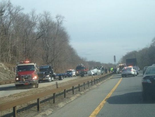 Hutchinson River Parkway rollover