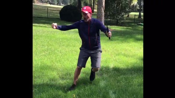 Webb Simpson recreated some of the crazy reactions