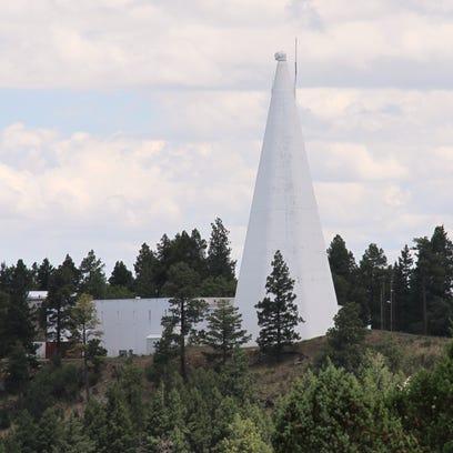 The Sacramento Peak Observatory telescope sits next