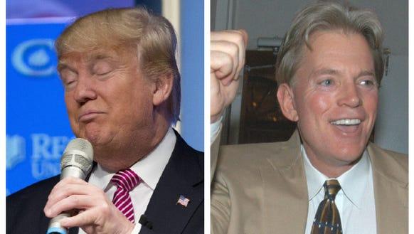 Trump, left, and former KKK leader David Duke.