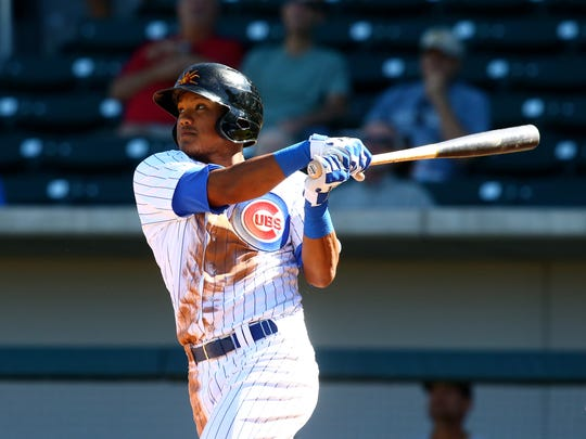 Shortstop Addison Russell came to the Cubs in the Jeff Samardzija deal.