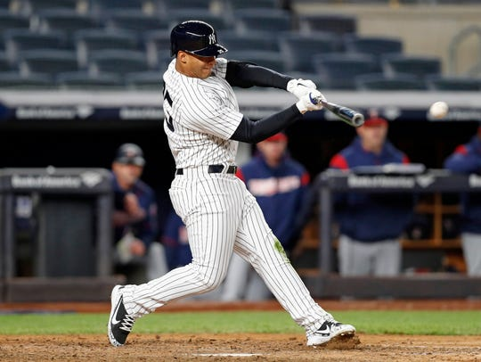 New York Yankees' Gleyber Torres, who was called up