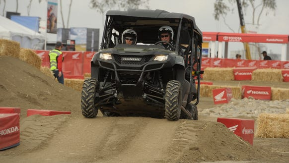 Expo attendees can test drive various vehicles in the
