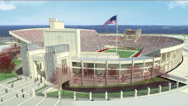 Rendition of Memorial Stadium south end zone renovation