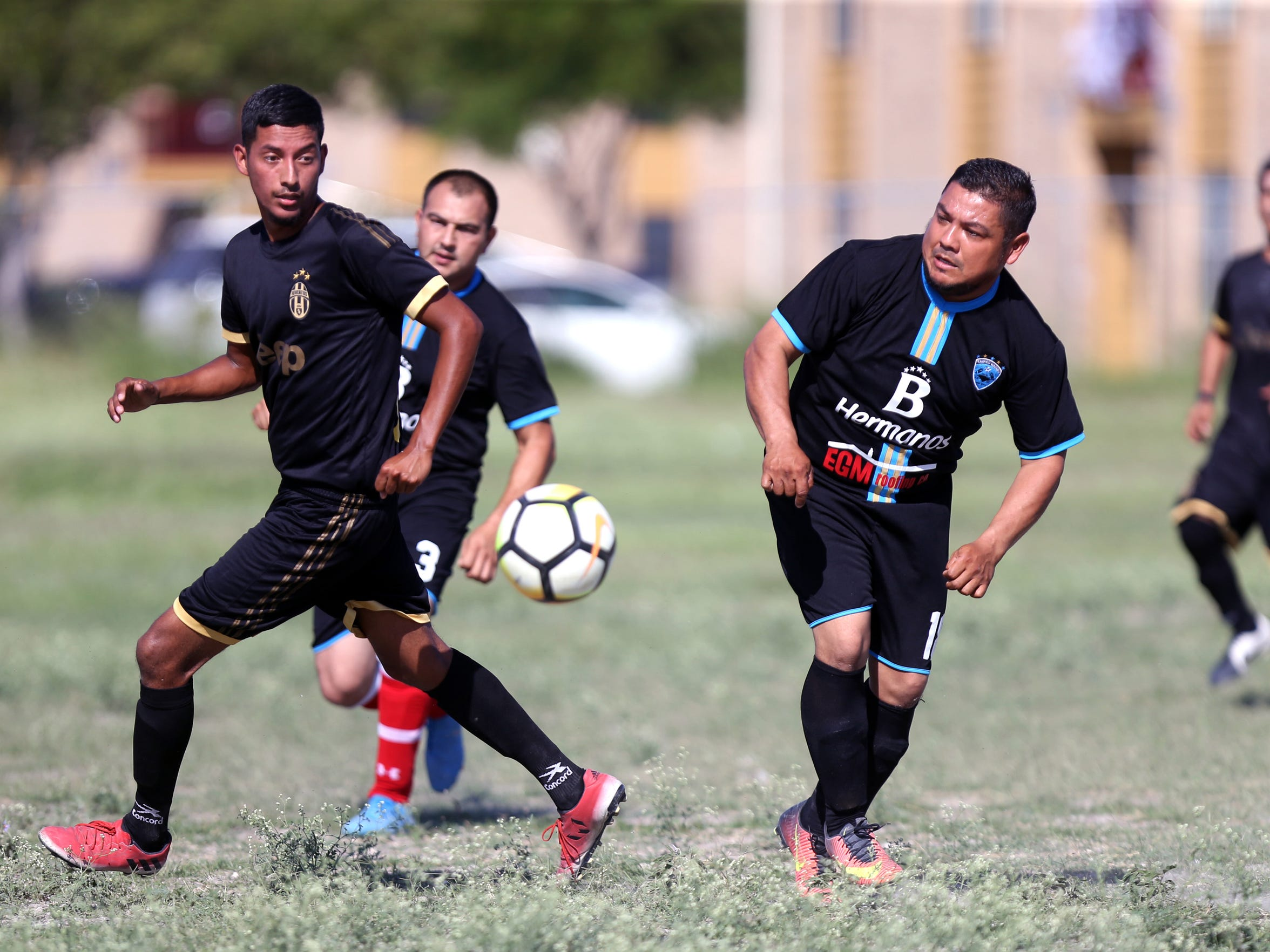 Ezequiel Rojas Martinez plays soccer on Oct. 8, 2017. Sundays are busy days for the family. Following church service at Church Unlimited in Corpus Christi, Rojas typically has a soccer game and then the family goes to eat or goes to a park to play.