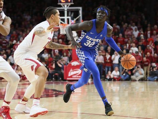 NCAA Basketball: Kentucky at Arkansas