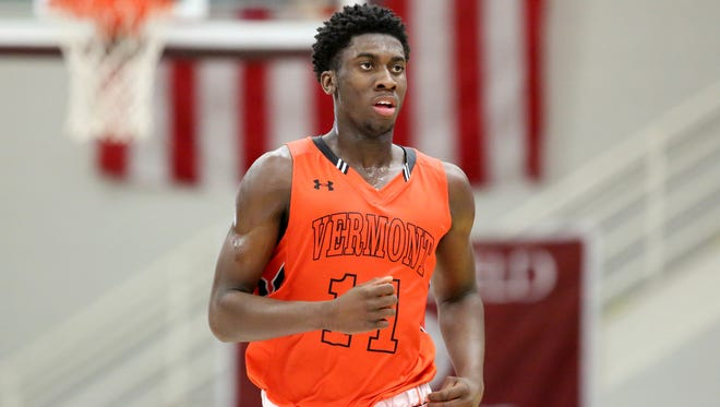Vermont Academy's Simi Shittu is the No. 1 power forward in the 2018 class.