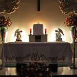 The altar at St. Mary of the Nativity, Salinas during The Virgin of Guadalupe celebrations